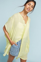 Anthropologie Kendra Oversized Tunic Chartreuse