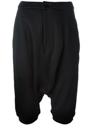 Y 3 Drop Crotch Shorts Black