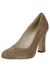 Kiomi Sophisticated Block Heel High Heels Brown
