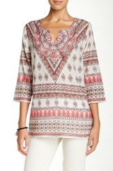 Tommy Bahama Firefly Foulard Floral Tunic Pink