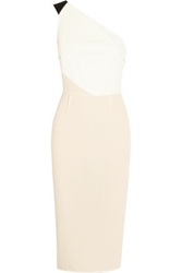 Roland Mouret Belmont Color Block Wool Crepe Dress Net A Porter.Com