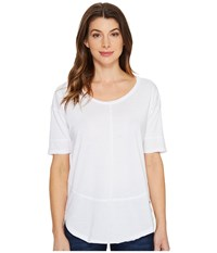 Jag Jeans Caf Tee In Burnout Jersey White Women's T Shirt