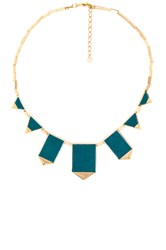 House Of Harlow Classic Station Pyramid Necklace Metallic Gold