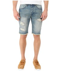 Staple Jean Shorts Medium Stone Wash Men's Shorts Blue