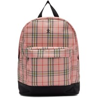 Opening Ceremony Pink And Black Plaid Backpack