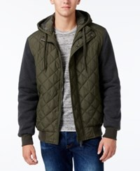 Ring Of Fire Men's Hooded Puffer Coat Green
