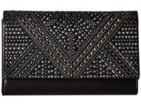 Jessica Mcclintock Nora Sparkle Shine Flap Black Handbags