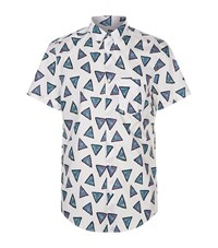 Kenzo Abstract Triangle Shirt Male White