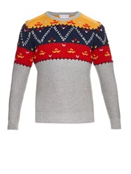 Michael Bastian Fair Isle Cashmere And Wool Blend Sweater