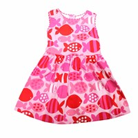 Toby Tiger Fish Party Dress Pink Purple