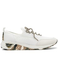 Diesel S Kby Sneakers Leather Suede Polyester Rubber White
