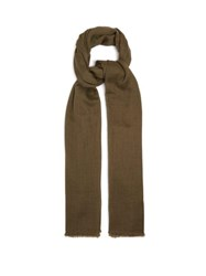 Denis Colomb Nomad Woven Cashmere Scarf Khaki