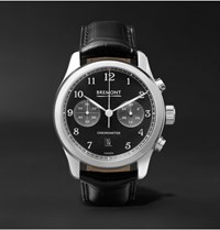 Bremont Alt1 Classic Pb Stainless Steel And Alligator Automatic Chronograph Watch Black