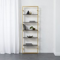 Cb2 Tesso Bronze 84 Wall Mounted Bookcase