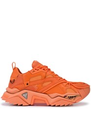 Calvin Klein 205W39nyc Panelled Chunky Sole Sneakers Orange