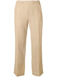 Golden Goose Deluxe Brand Summer Cropped Trousers Neutrals