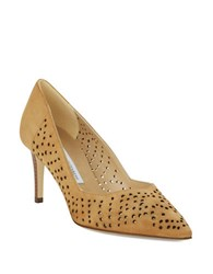 Diane Von Furstenberg Holla Suede Cutout Pumps Tan