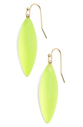 Alexis Bittar 'Lucite ' Small Sliver Earrings Neon Yellow
