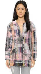 Cynthia Rowley Baja Pullover Tunic Rainbow Tweed