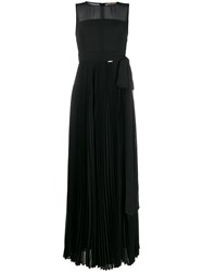Liu Jo Sheer Pleated Evening Gown 60