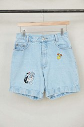 Urban Renewal Vintage Looney Tunes Embroidered Denim Short Assorted