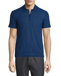 Cnc Costume National Short Sleeve Polo Shirt Cobalt
