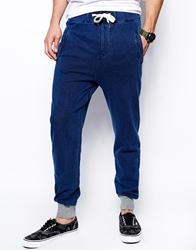 Native Youth Indigo Sweatpants With Contrast Cuff Blue