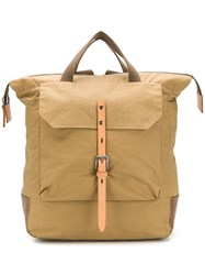 Ally Capellino Buckled Backpack Neutrals
