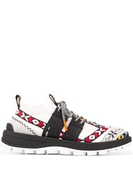 Etro Embroidered Low Top Sneakers White