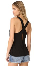 Enza Costa Twist Back Tank Black