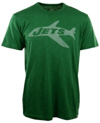 '47 Brand Men's New York Jets Retro Logo Scrum T Shirt Kelly Green