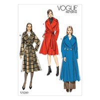Vogue Women's Loose Fitting Lined Coat Sewing Pattern 9289