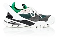Calvin Klein 205W39nyc Women's Rubber Strap Leather And Suede Sneakers Green