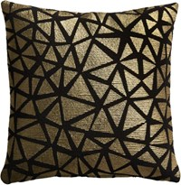Cb2 Soiree Black 16 Pillow With Down Alternative Insert
