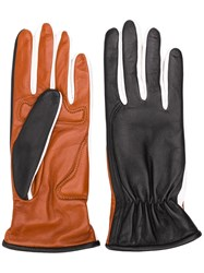 Sportmax Two Faced Leather Gloves Black