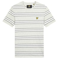 Lyle And Scott Double Stripe T Shirt Light Grey Marl