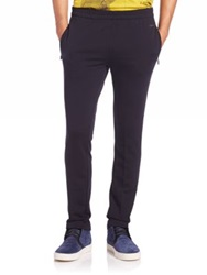 Z Zegna Tech Merino Wool Track Pants Dark Blue