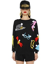 Moschino Accessories Intarsia Cotton Knit Sweater