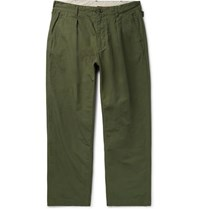 Engineered Garments Cotton Ripstop Trousers Army Green