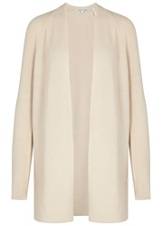 Helmut Lang Cotton And Cashmere Blend Cardigan Cream