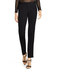 Polo Ralph Lauren Skinny Stretch Wool And Silk Tuxedo Pants Black