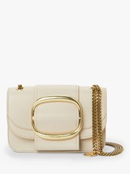 See By Chloe Hopper Leather Small Cross Body Bag Cement Beige