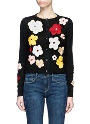 Alice Olivia 'Lyndia' Floral Embroidered Cardigan Multi Colour