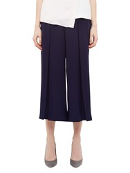 Ted Baker Pleat Crepe Culottes Navy