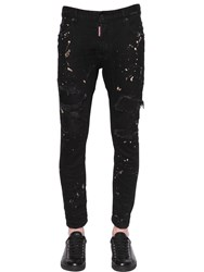 Dsquared 17Cm Tidy Biker Destroyed Denim Jeans