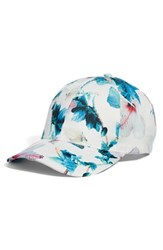Collection Xiix Tropical Floral Satin Baseball Cap White