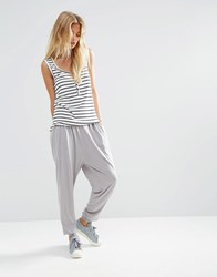 Asos Harem Pants In Jersey Gray