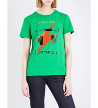 Fiorucci Electric Muse Cotton Jersey T Shirt Green