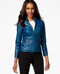 Alfani Petite Faux Leather Bomber Jacket Only At Macy's
