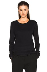 Ann Demeulemeester Long Sleeve Tee In Black